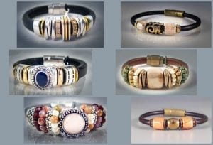 Stag's Leap Leather Bracelets, wine country jewelry